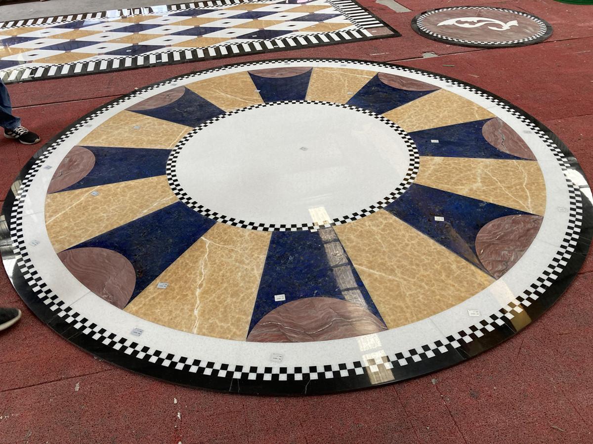 Marble Onyx  granite waterjet mosaic