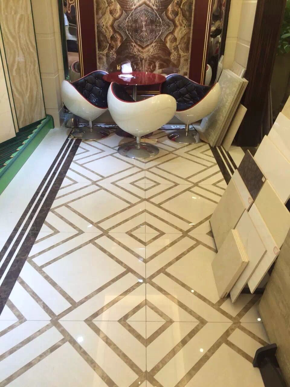 marble flooring inlay