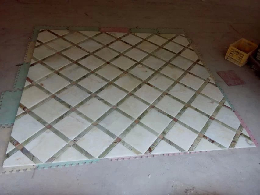 marble patchwork flooring