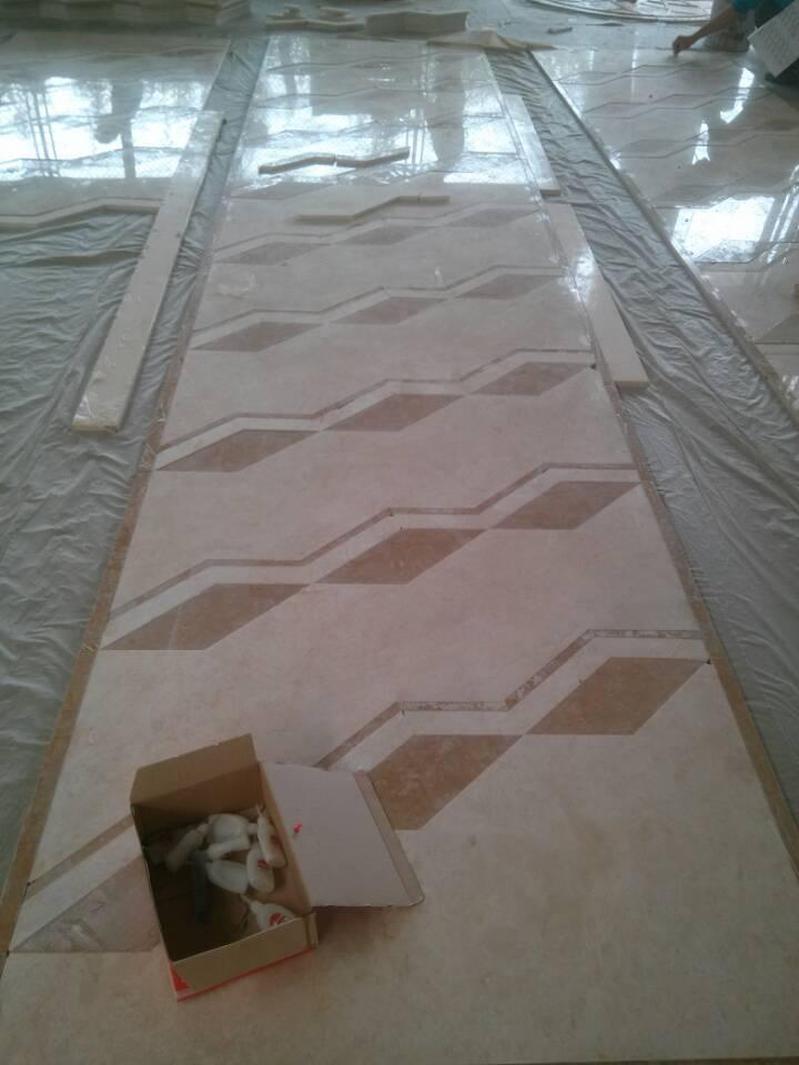 flooring tile marble water-jet medallion