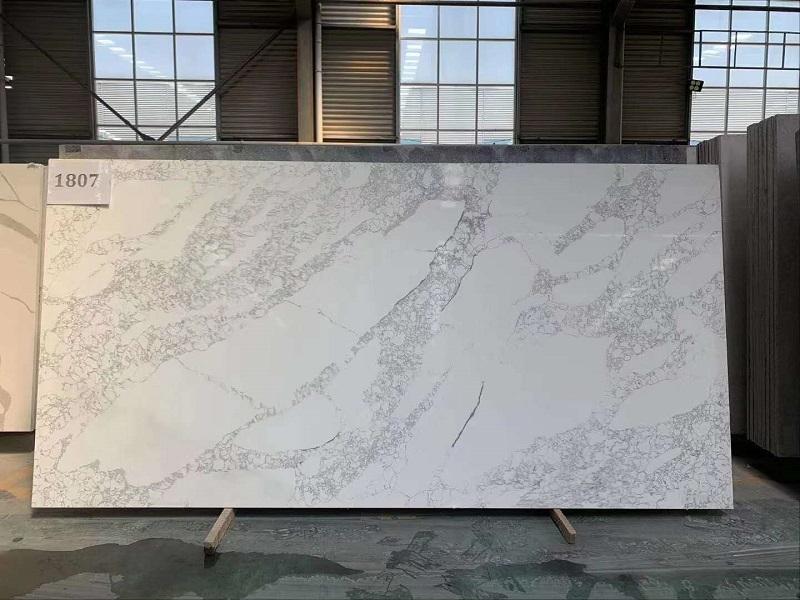 marble effect quartz slab