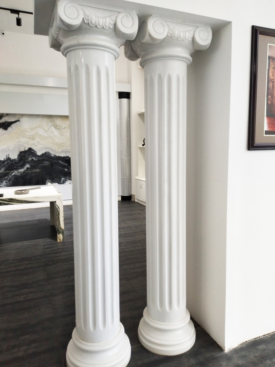 Marble Pillar White column