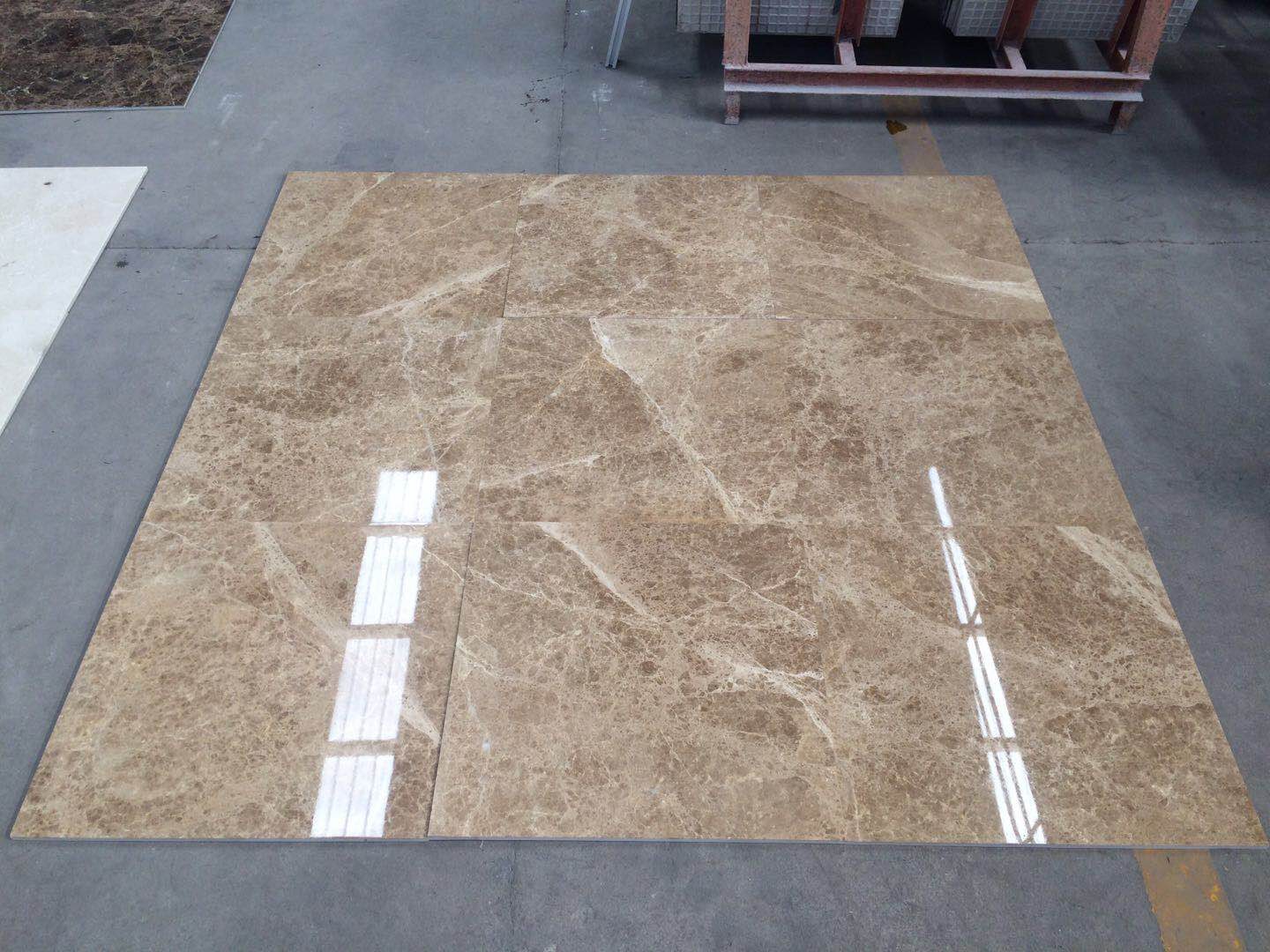 Light Emperador tiles