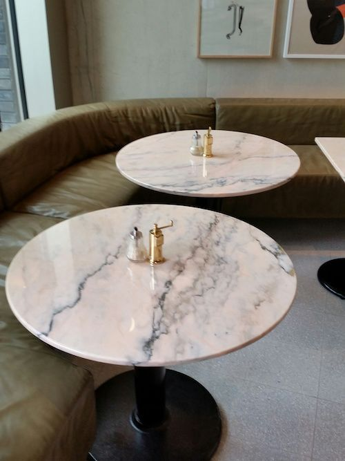 White Marble Stone Coffee Table