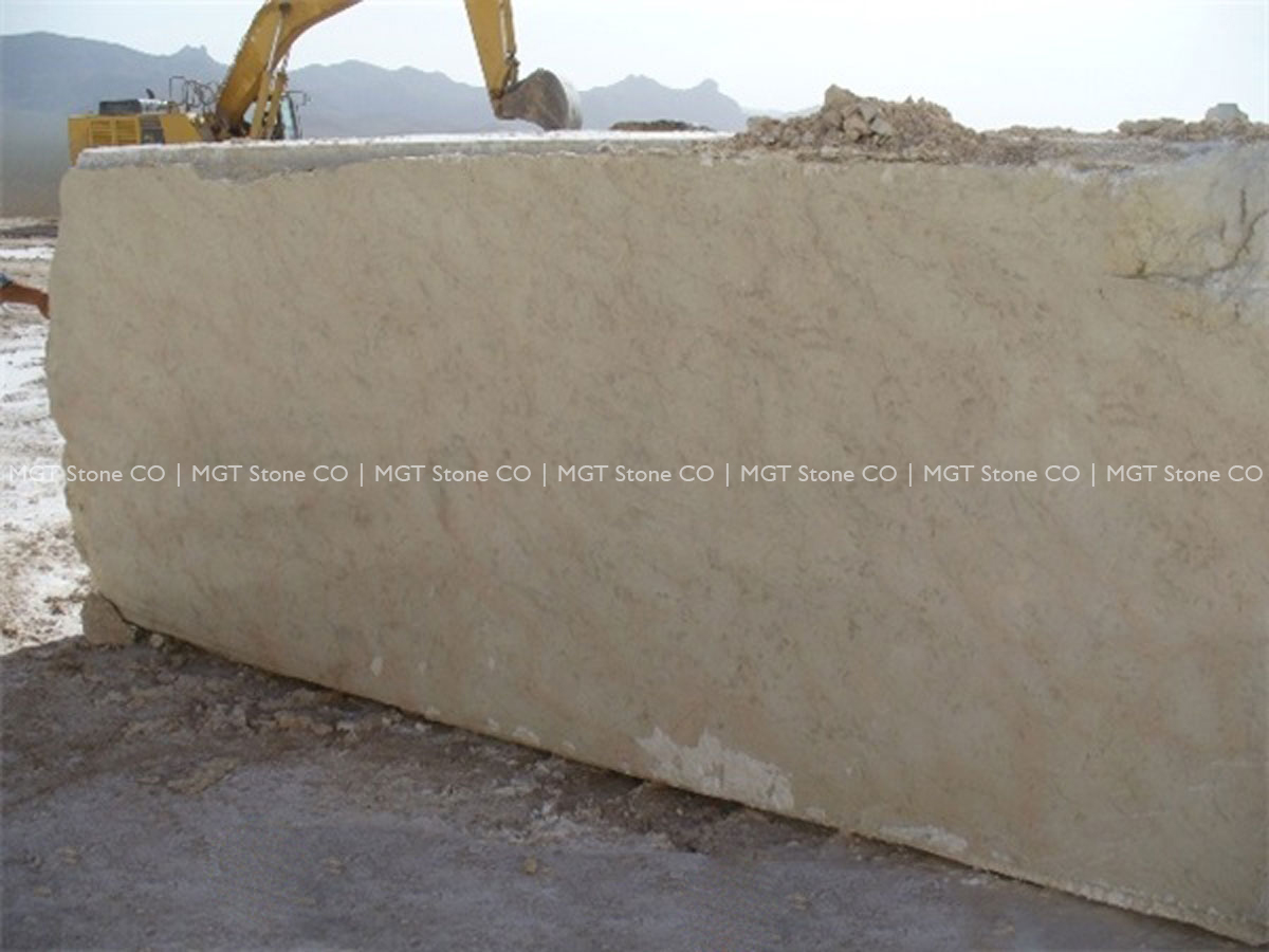 Marjan Cream Marble Block