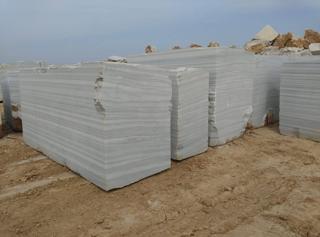 Marmara white marble block