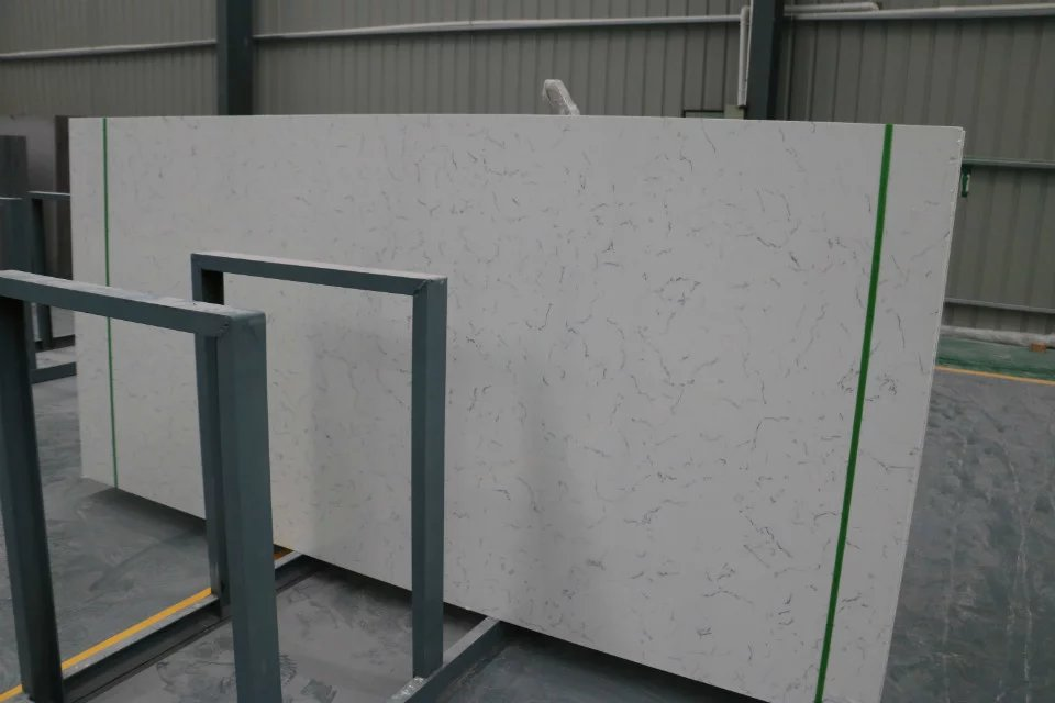 Artificial quartz stone carrara white quartz slab