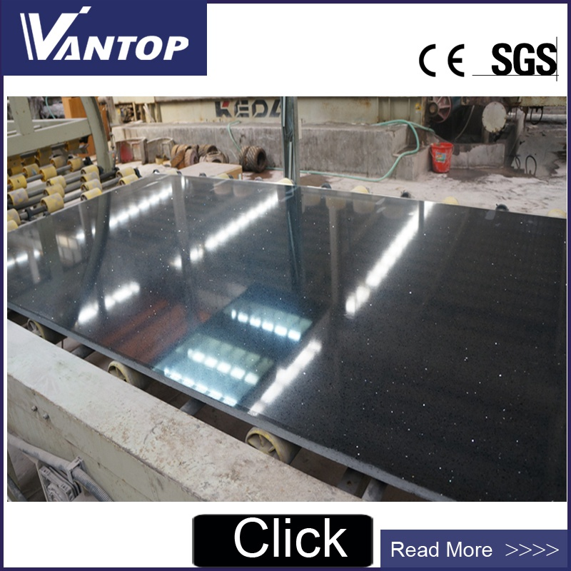 Black Engineered Quartz Stone Slab Jumbo Size