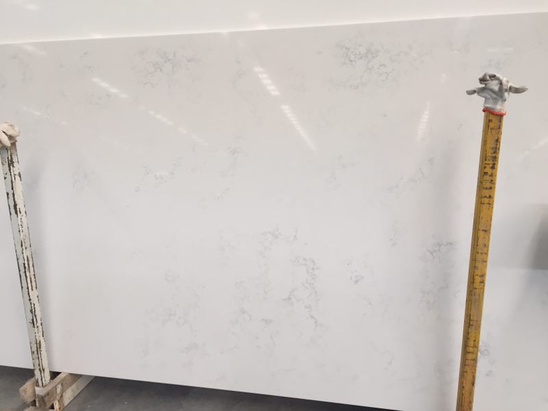 Carrara color artificial quartz slabs for countertops