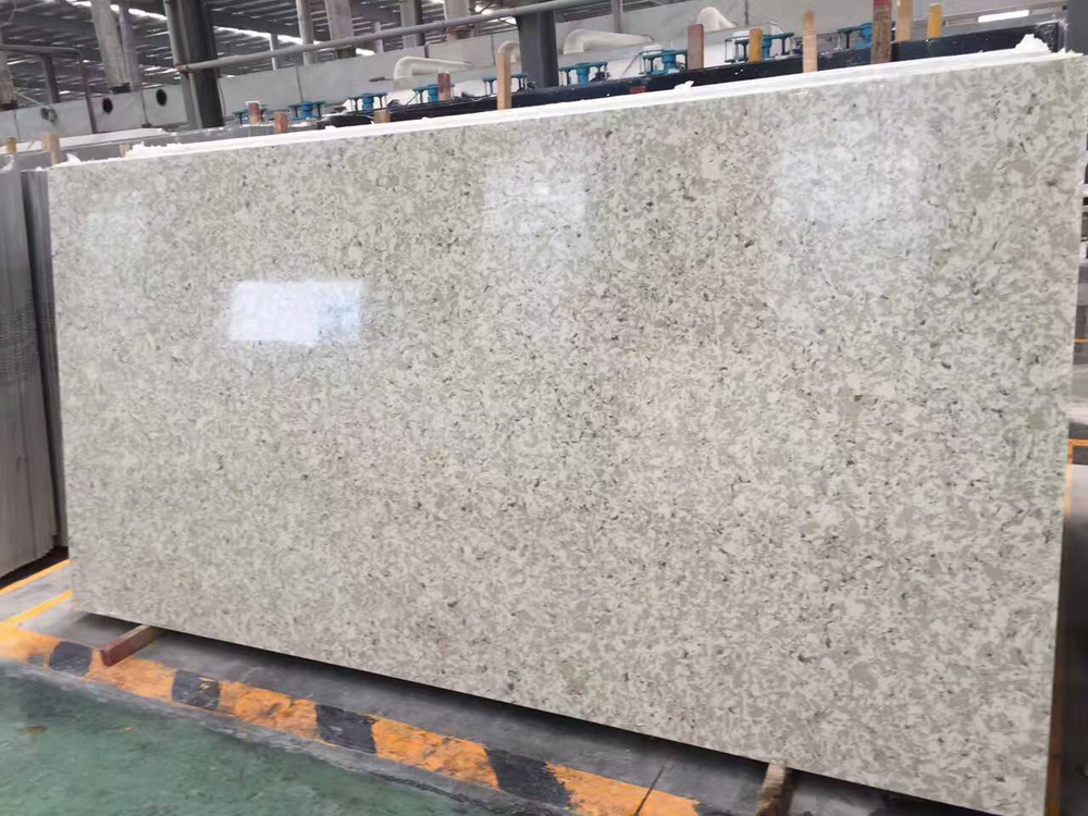 Sparkle color quartz stone slabs for kitchen countertops
