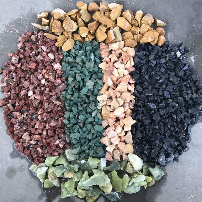 Multicolor making machine natural pebble stone price