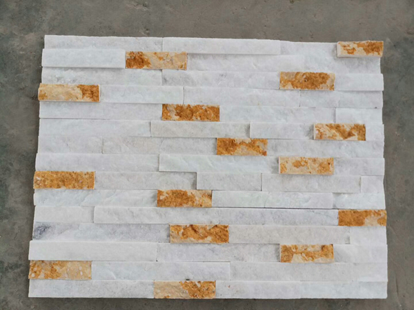 New decorative white quartzite stacked wall stone for sales
