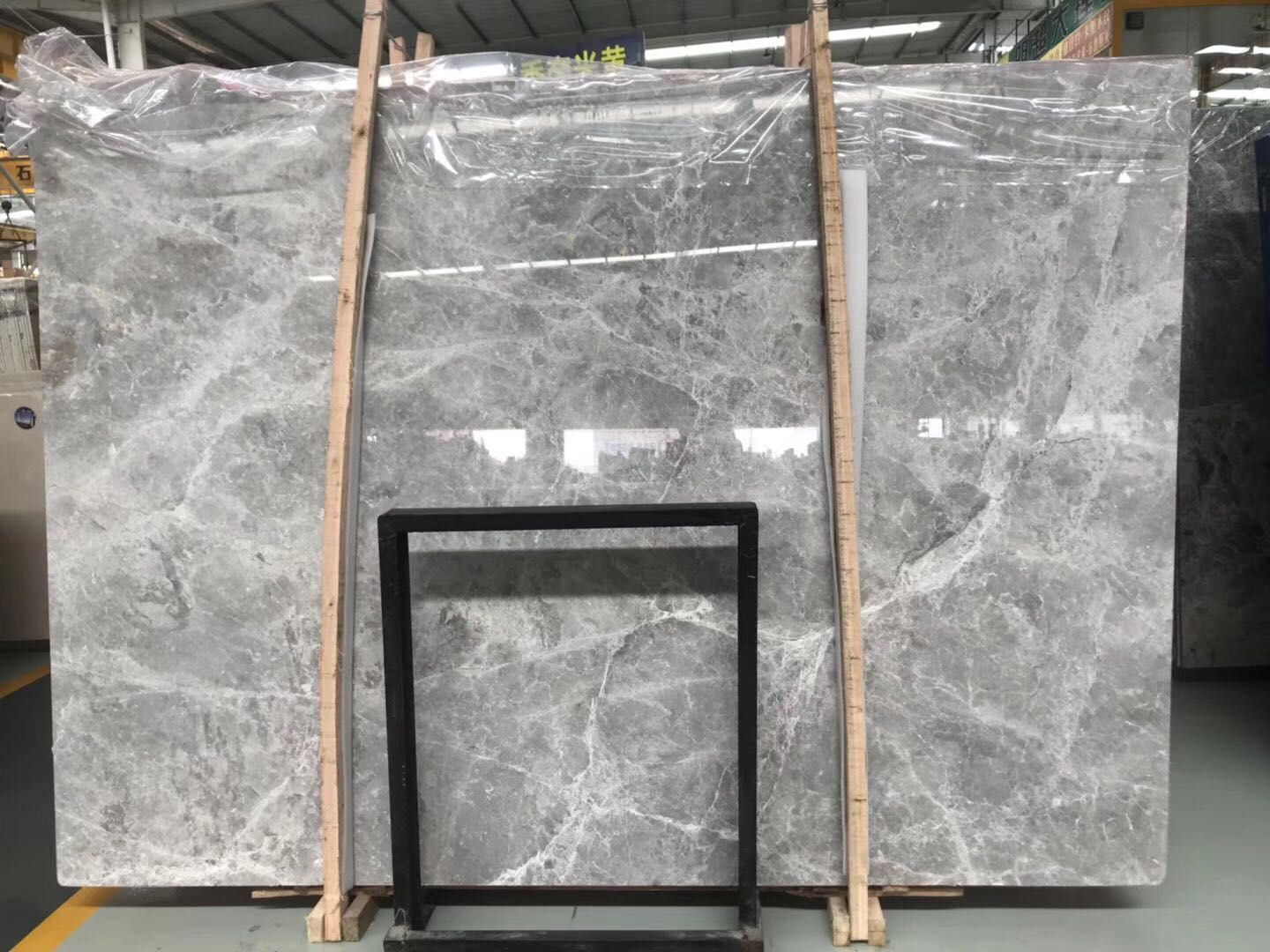 Ice Grey Marble Tiles & Slabs Gery Polished Marble Slab For  Wall or Flooring Coverage