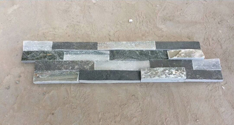 Mixed color grey slate stacked wall cladding stone