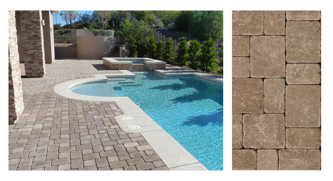 Iran Tumbled Beige Travertine Paving Stone Tiles