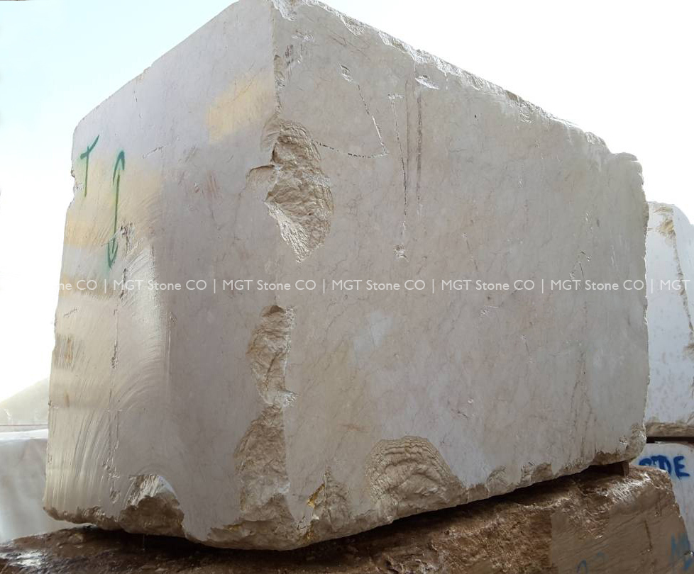 Moon Cream Marble Block