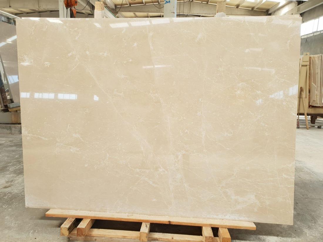 Moon Cream Polished Beige Marble Slabs