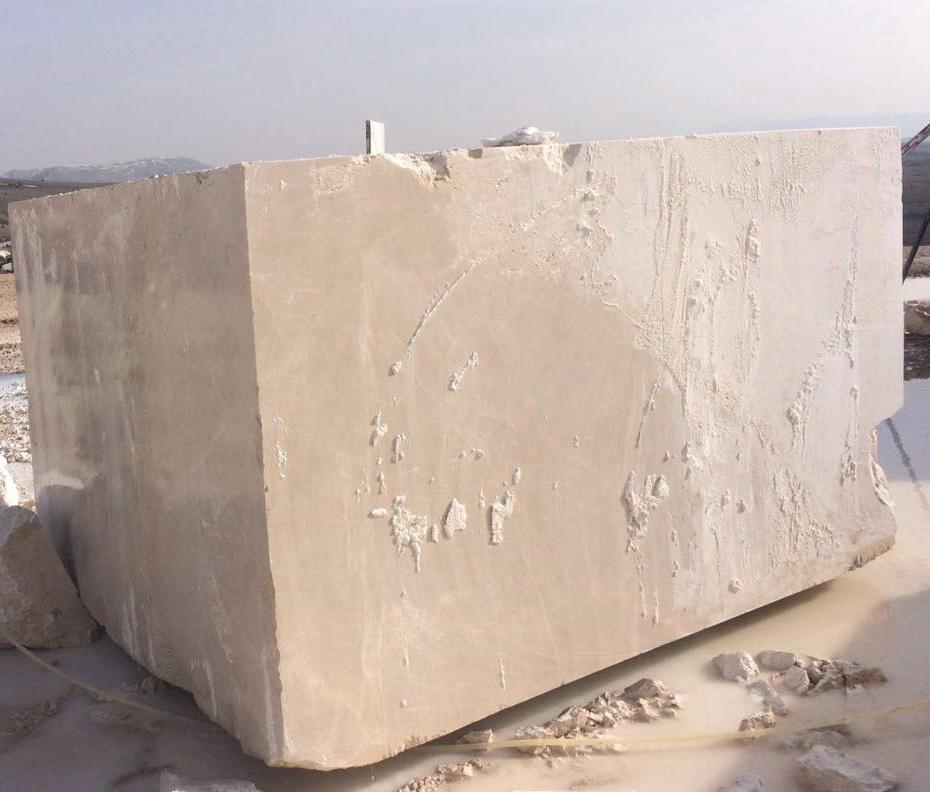moon cream beige marble block