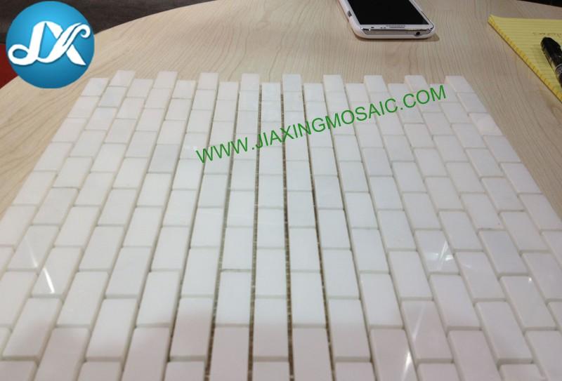 Moon white marble mosaic