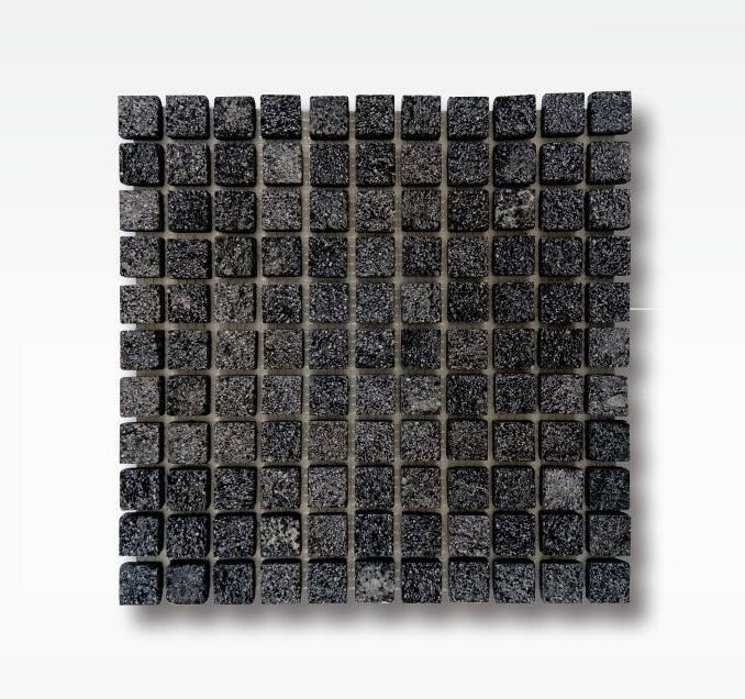 Indonesia Black Lavastone Mosaic Tile