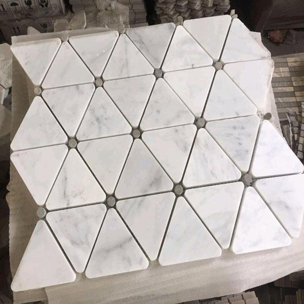 Triangle White Mosaic Tile