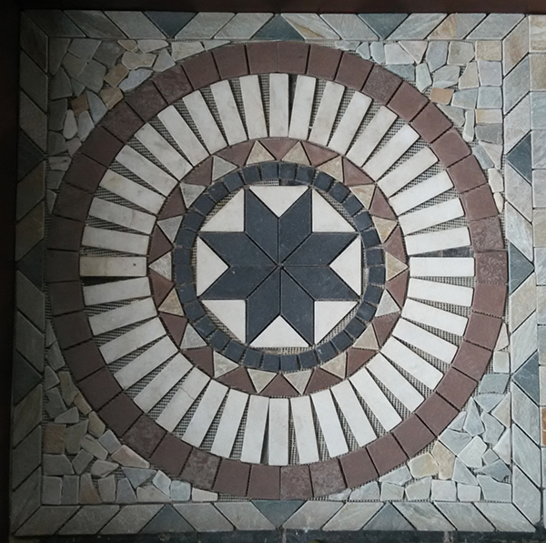 mosaic flat stones tiles in different pattern