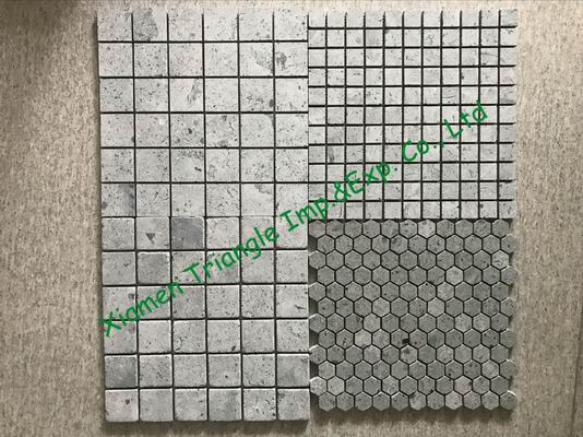 China Green Sukabumi Stone Granite Mosaic Pattern Tiles