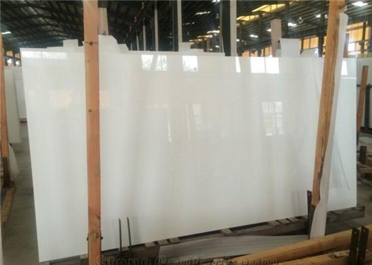 Nano Crystal White Glass Big Slabs