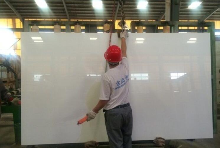 Factory of Crystal White Nano Glass Stone Slabs
