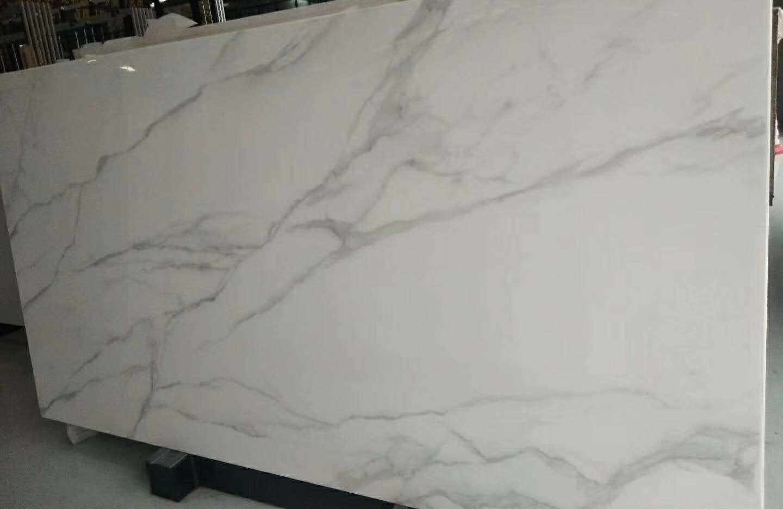 Nano Glass Stone Artificial White Marble Slabs