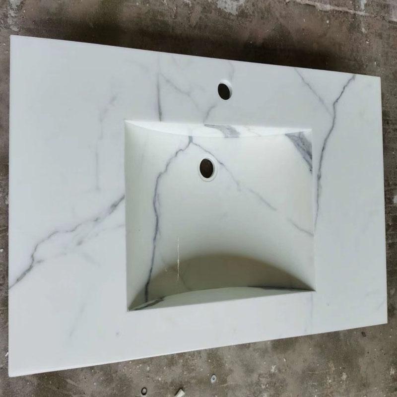 Calacatta White Nano Glass Stone