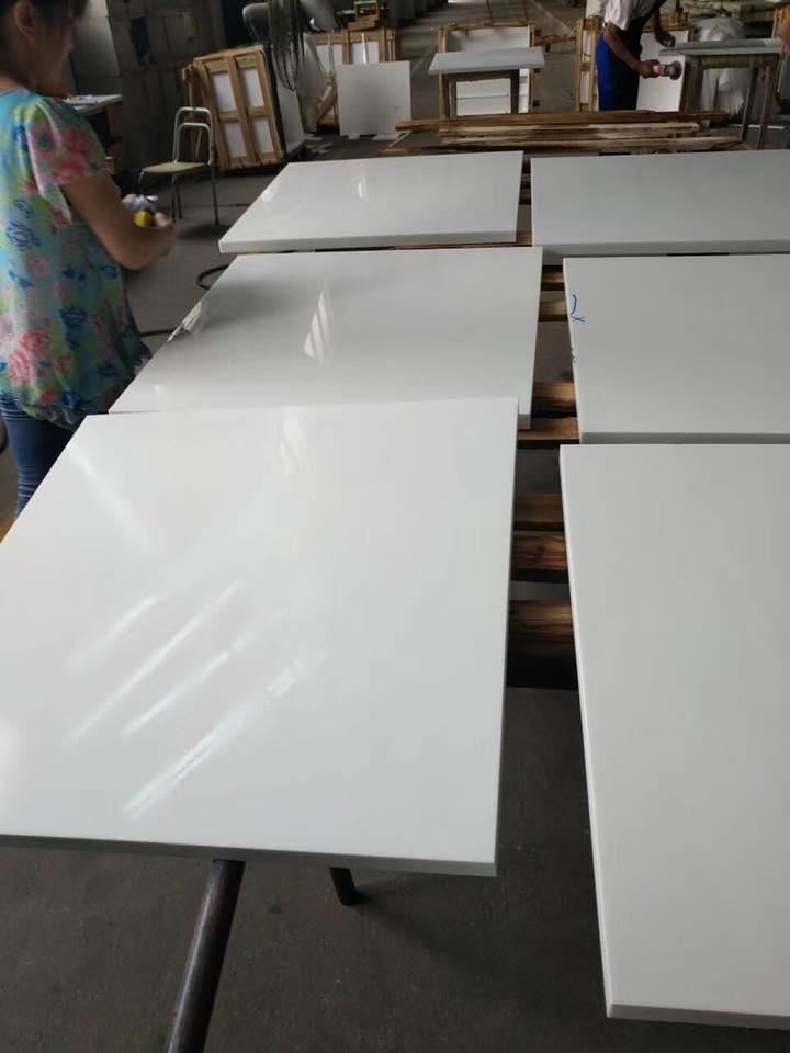 3cm nano white crystallized glass tile