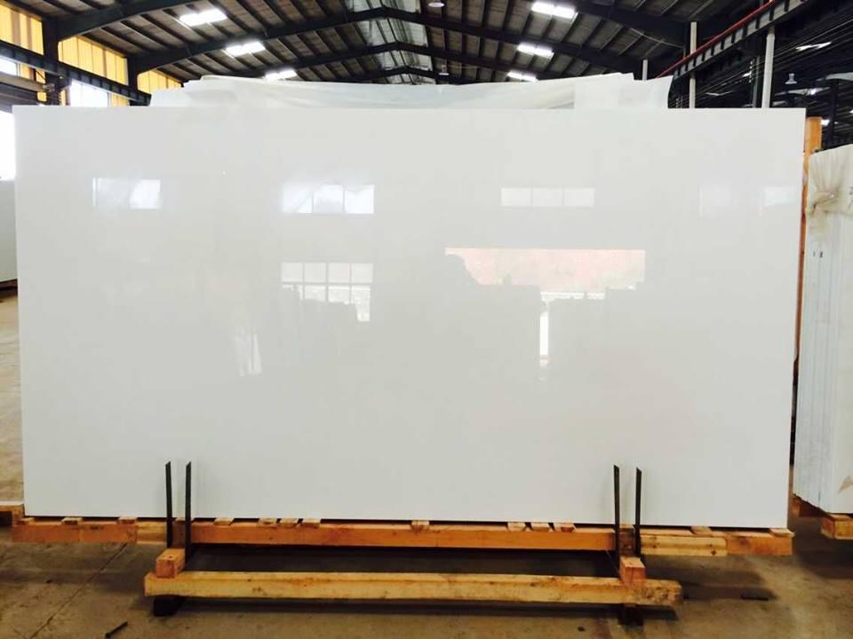 nano white crystallized glass slab panel