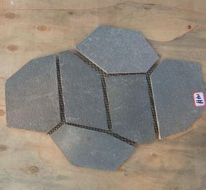 natural green flagstone mat with recycled mesh