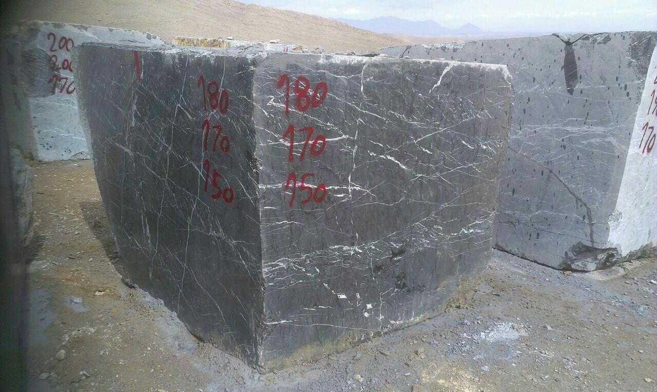 nero marquina marble block