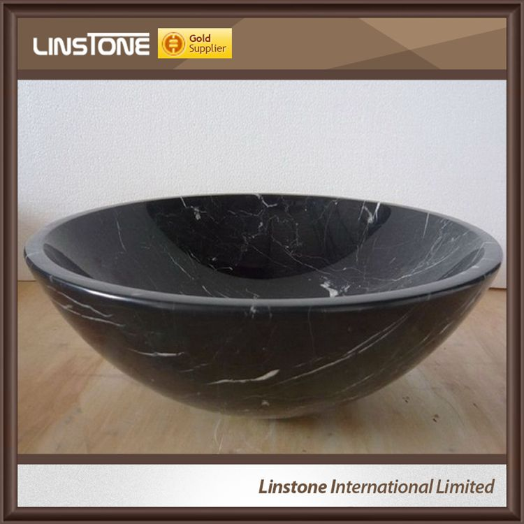 Black marble washbasin Bathroom