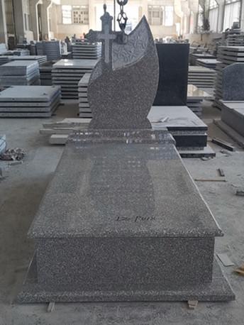 New G664 granite tombstone