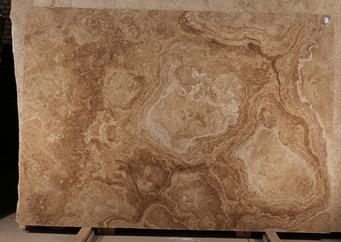 Noce Travertine Slab Cross Cut
