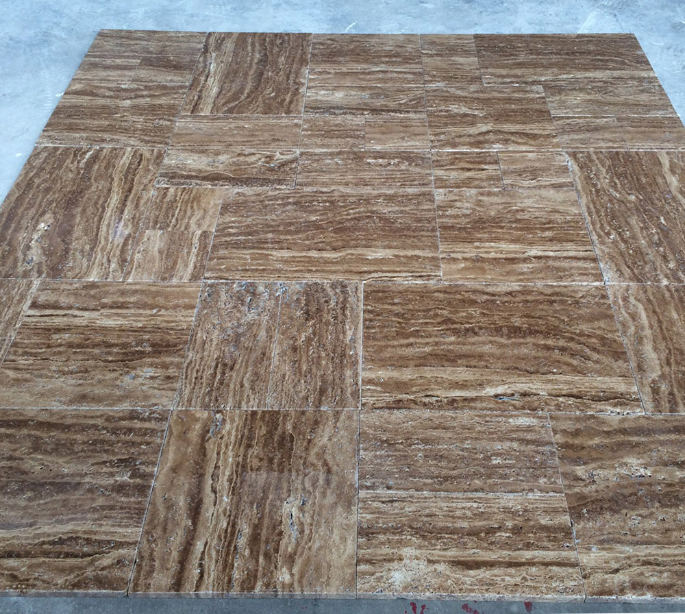 Noche Travertine Vein Cut Tiles
