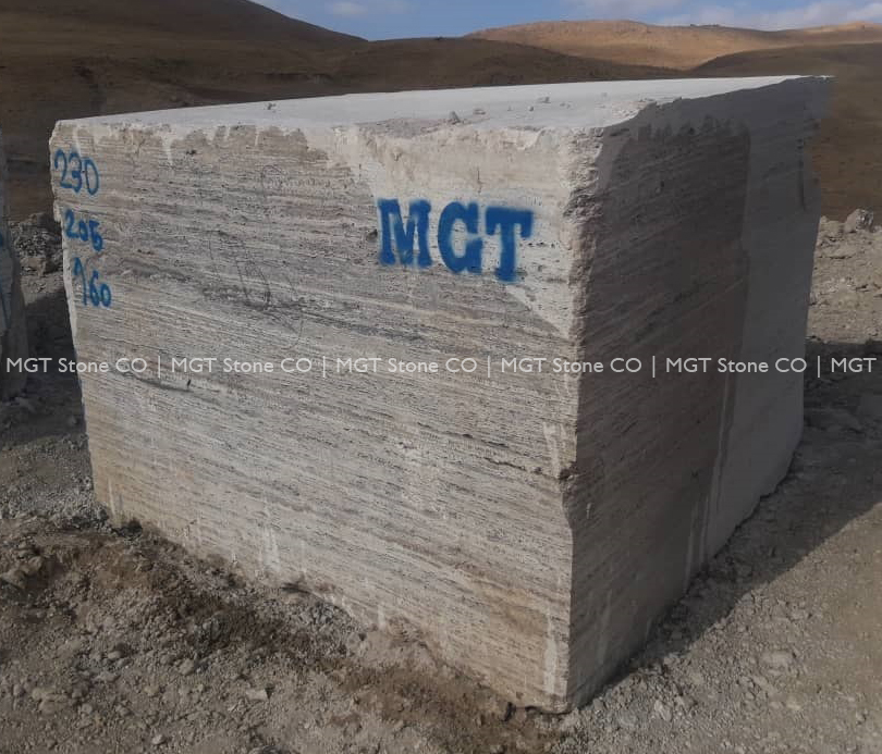 Ocean Silver Travertine Blocks