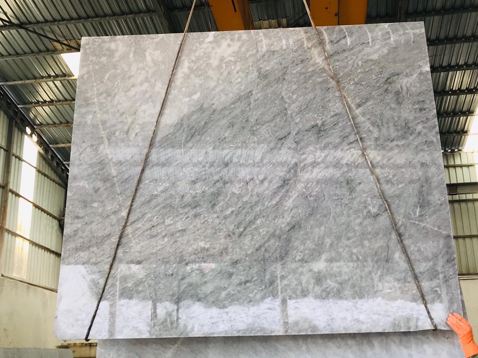 Ocean Grey Polished Marble Slabs