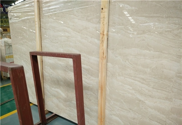 Beige Marble Slabs Tiles Cut to Sizes for Wall and Flooring
