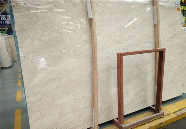 Polished Oman Beige Marble Slabs Tiles Cut to Sizes