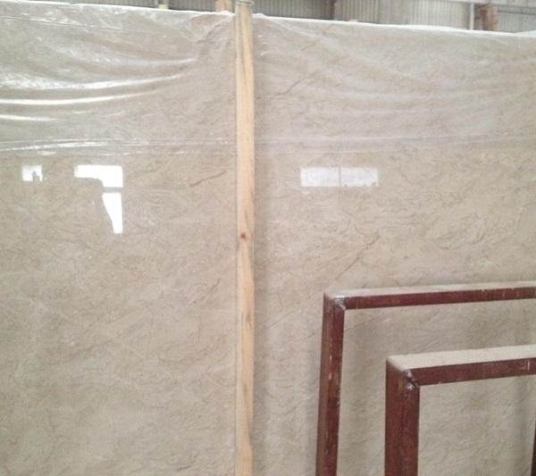 Polished Oman Beige Marble Slabs Tiles Cut to Sizes for Wall Floor