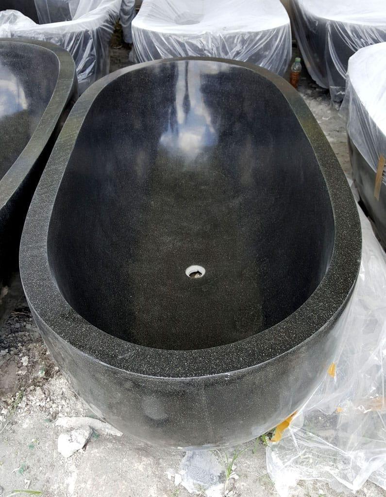 Indonesia Oval Terrazzo Black Bathtub