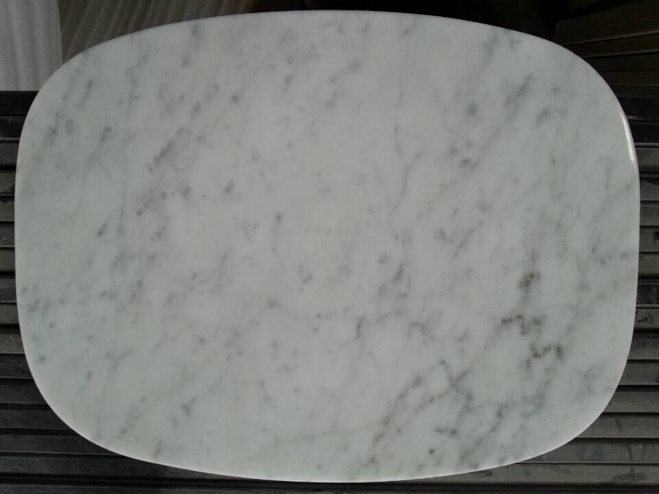 Bianco carrara marble table top