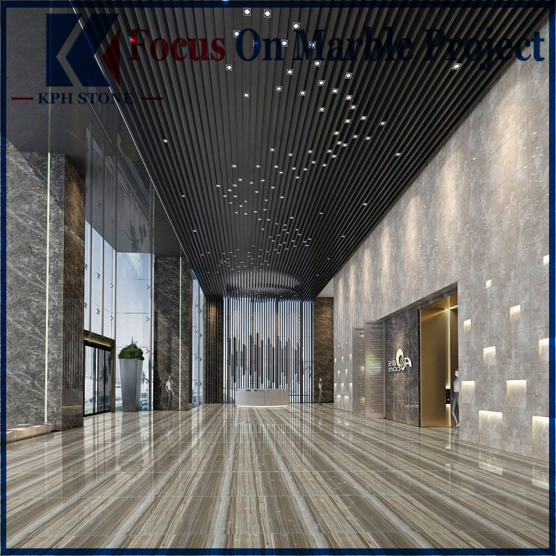 Blue Palissandro Commercial Marble Floor
