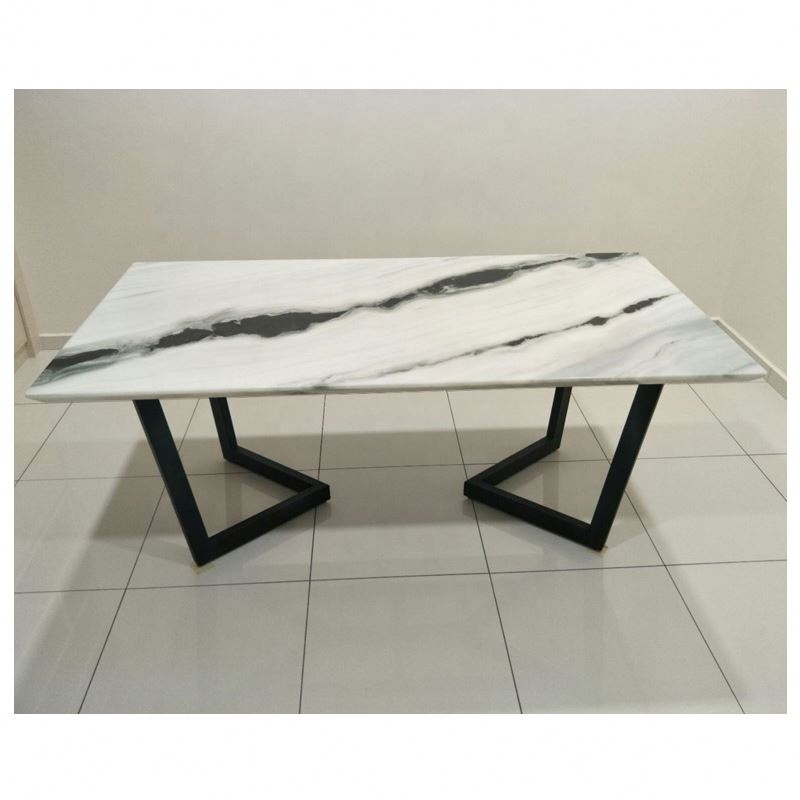 Rectangle China Panda White Table Top