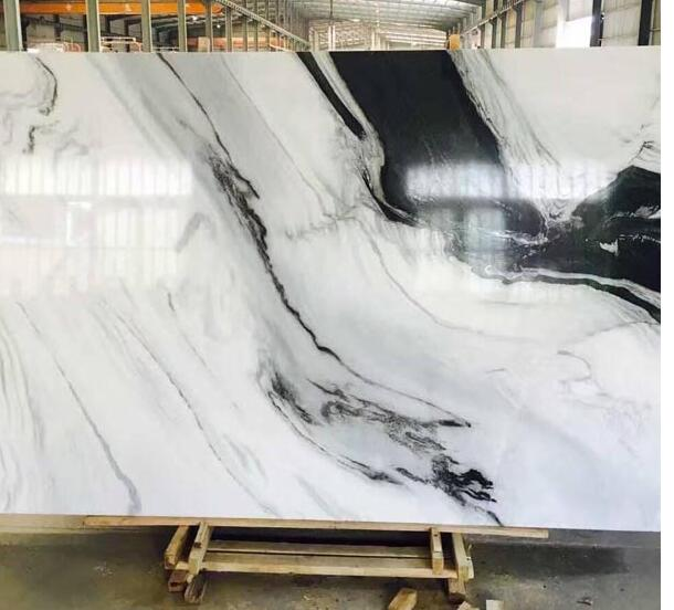 Panda white marble slabs A quality decorating 2cm thickness
