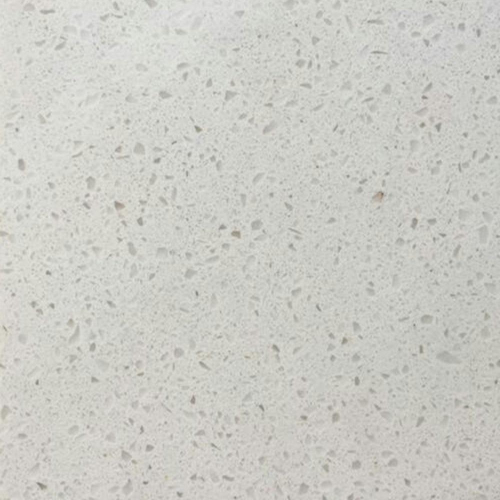 pearl white quartz stone slab
